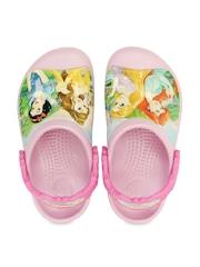 Crocs Girls Pink Printed Clogs