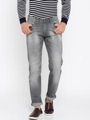 Allen Solly Men Grey Slim Fit Low-Rise Clean Look Jeans