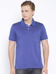 Arrow Blue & Purple Striped Polo T-shirt