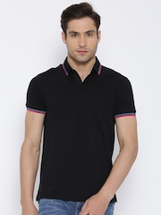 United Colors of Benetton Black Polo T-shirt