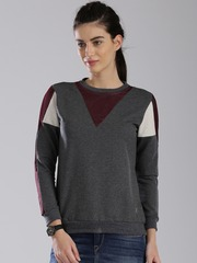 HRX by Hrithik Roshan Charcoal Grey Sweatshirt