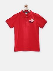 PUMA Boys Red Polo T-shirt