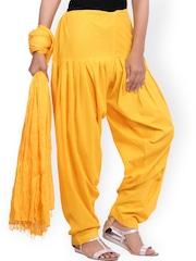 Jaipur Kurti Yellow Patiala and Dupatta