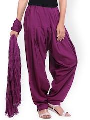 Jaipur Kurti Purple Patiala & Dupatta