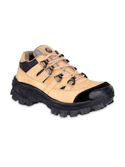 Prolific Men Tan Brown Genuine Leather Casual Shoes
