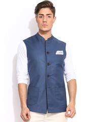 MR BUTTON Blue Nehru Jacket