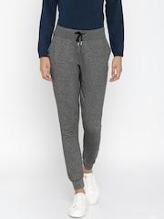 ether Charcoal Grey Melange Track Pants