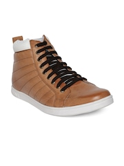 Knotty Derby by Arden Men Tan Brown Quilted Casual Shoes
