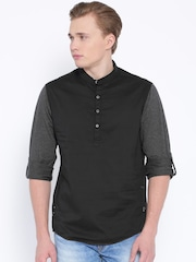 SPYKAR Black Casual Shirt