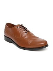 INVICTUS Men Tan Brown Oxford Formal Shoes