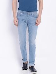 Indian Terrain Blue Low-Rise Brooklyn Slim Jeans