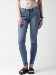 Mast & Harbour Blue Skinny Fit Jeans