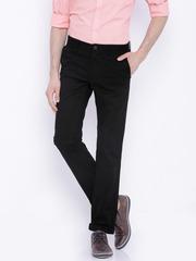 Indian Terrain Black Brooklyn Slim Fit Trousers