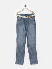 Gini & Jony Boys Blue Linen Jeans