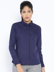 Arrow Woman Navy Casual Shirt