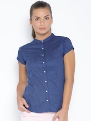 Arrow Woman Blue Printed Shirt