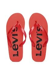 Levis Men Red Printed Flip-Flops