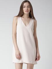 FOREVER 21 Beige A-Line Dress