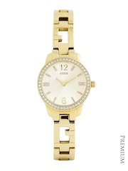 GUESS Women Muted Gold-Toned Dial Watch W0568L2
