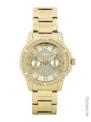 GUESS Women Gold-Toned Dial Watch W0705L2