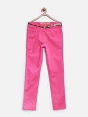 612 League Girls Pink Trousers with Belt