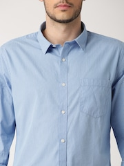 ether BLUE ANTI MICROBIAL PINSTRIPE SHIRT