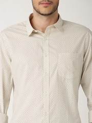 ether CREAM ANTI MICROBIAL PRINTED SHIRT