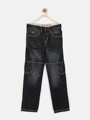 U.S. Polo Assn. Kids Boys Navy Cargo Jeans
