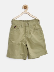 U.S. Polo Assn. Kids Boys Olive Brown Shorts