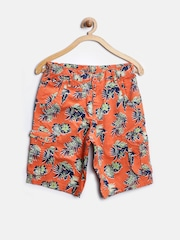 U.S. Polo Assn. Kids Boys Orange Printed Cargo Shorts