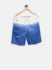 U.S. Polo Assn. Kids Boys Blue Dyed Shorts