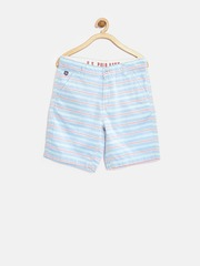 U.S. Polo Assn. Kids Boys Blue Striped Shorts