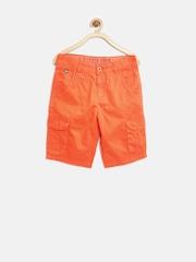 U.S. Polo Assn. Kids Boys Orange 3/4th Cargo Shorts