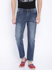 Fox Blue Washed Slim Fit Jeans