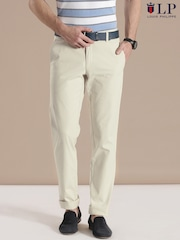 Louis Philippe Sport Beige Steven Slim Chino Trousers