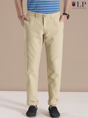 Louis Philippe Sport Beige Steven Slim Casual Trousers