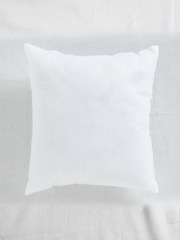 SWHF White Single Fibre 12 x 12 Square Cushion