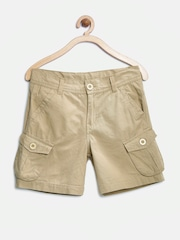 YK Boys Brown Cargo Shorts