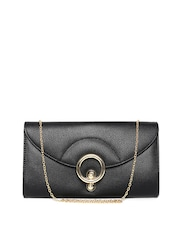 Lisa Haydon for Lino Perros Black Clutch with Chain Strap