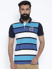 Proline Blue & White Striped Polo T-shirt
