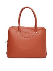 VIARI Rust Orange Genuine Leather Handbag