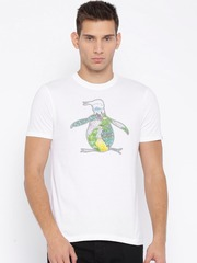 Original Penguin White Printed T-shirt
