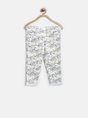 Tiny Girl White Printed Jeggings
