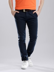 Calvin Klein Jeans Navy Casual Trousers