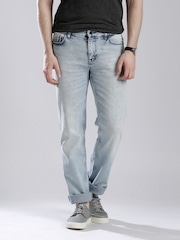 Calvin Klein Jeans Blue Washed Straight Fit Jeans