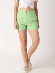 All About You from Deepika Padukone Green Sheer Shorts