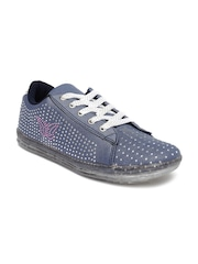 Ginger by Lifestyle Women Blue Embellished Casual Shoes