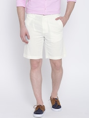 United Colors of Benetton Off-White Linen Shorts