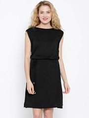 United Colors of Benetton Black A-Line Dress