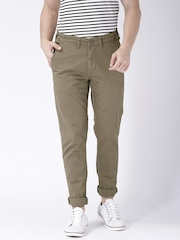 Moda Rapido Taupe Slim Fit Trousers- Stretch fabric- Mobile (upto 6.2) Phone Pocket